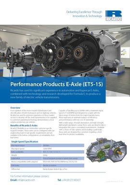 Performance Products E-Axle (ET5-1S)