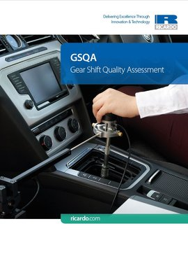 GSQA - Gear Shift Quality Assessment Brochure