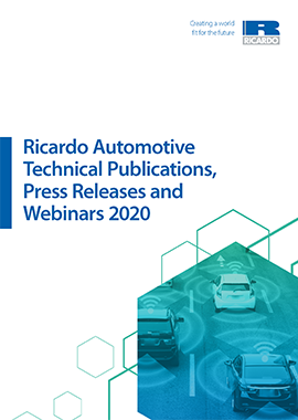 Ricardo Publications Catalogue 2020: Automotive