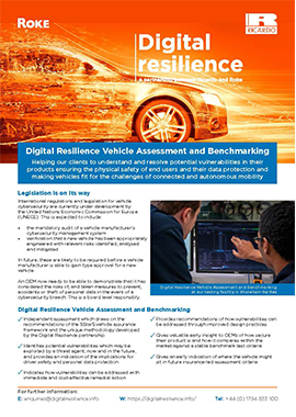 Digital Resilience Vehicle Assessment and Benchmarking
