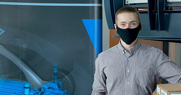 After Work Each Day, Ricardo Project Engineer Creates Face Shields for Hospitals, First Responders