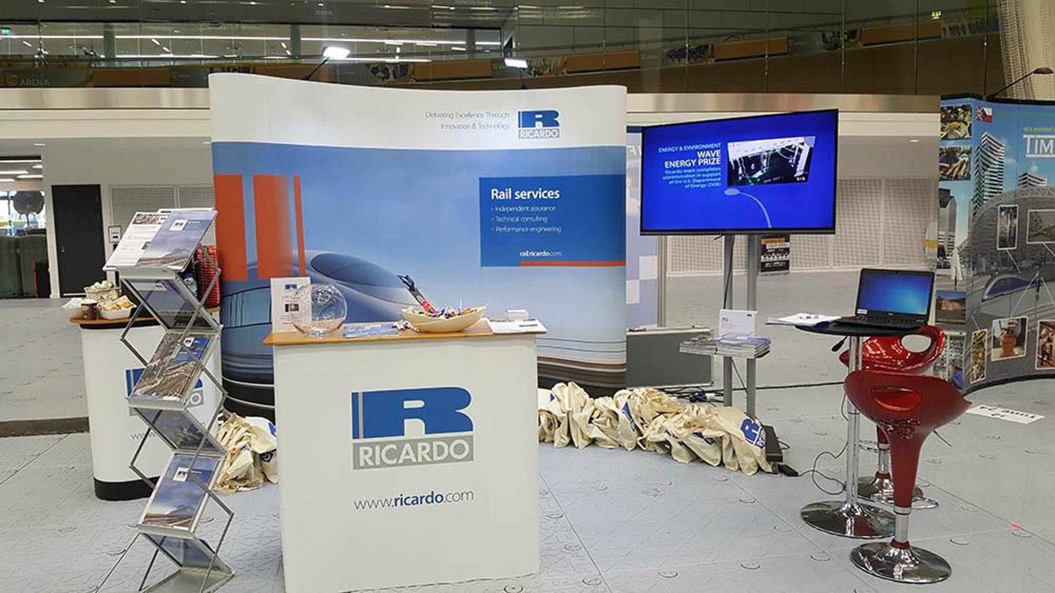Our rolling stock team are on site at RVE 2017 in Derby's Velodrome