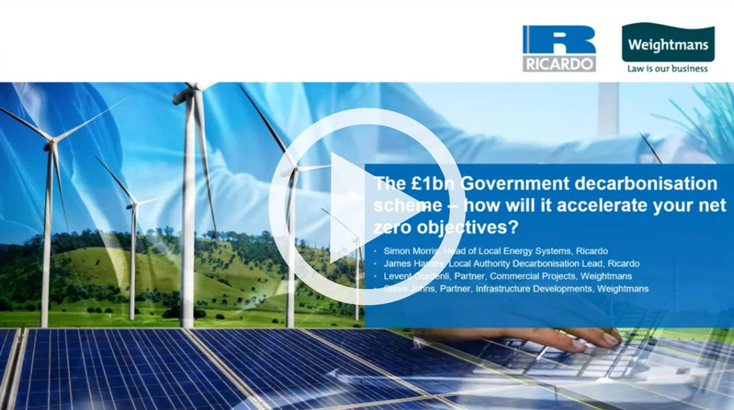 The £1bn Government decarbonisation scheme – how will this accelerate your net zero objectives?