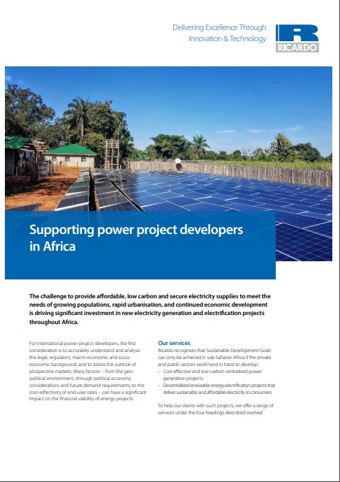 Supporting power project developers in Africa