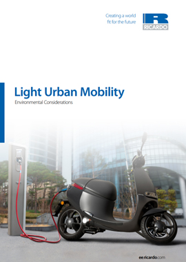 Light urban mobility - environmental considerations