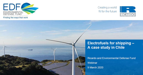 Electrofuels for shipping webinar materials