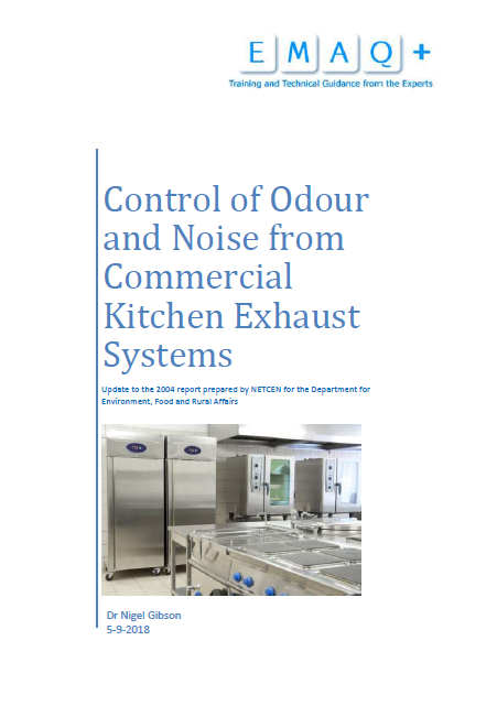 Control of Odour and Noise from Commercial Kitchen Exhaust Systems