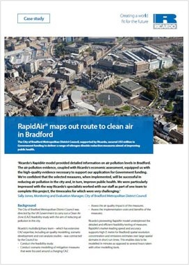 RapidAir® maps out route to clean air in Bradford