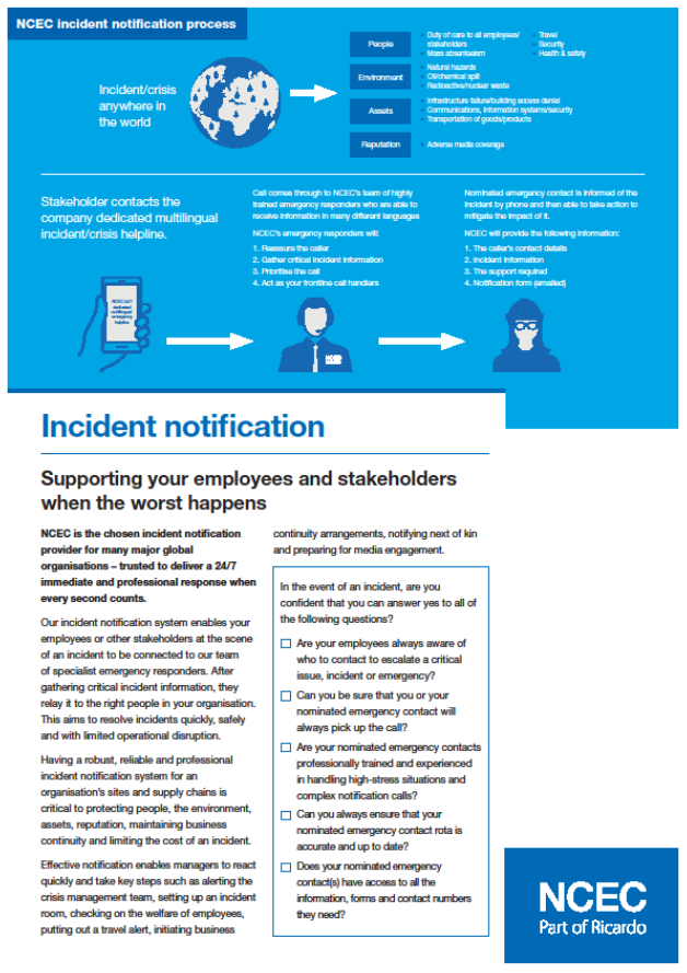 Incident notification – supporting your employees and stakeholders when the worst happens