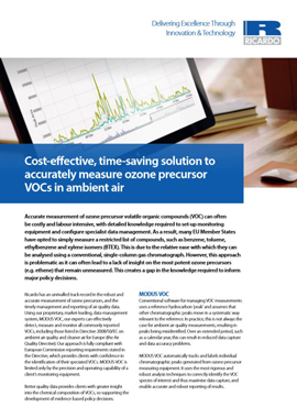 Cost-effective, time-saving solution to accurately measure ozone precursor VOCs in ambient air