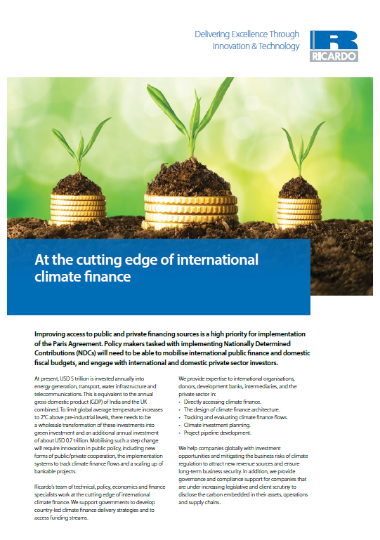 At the cutting edge of climate finance