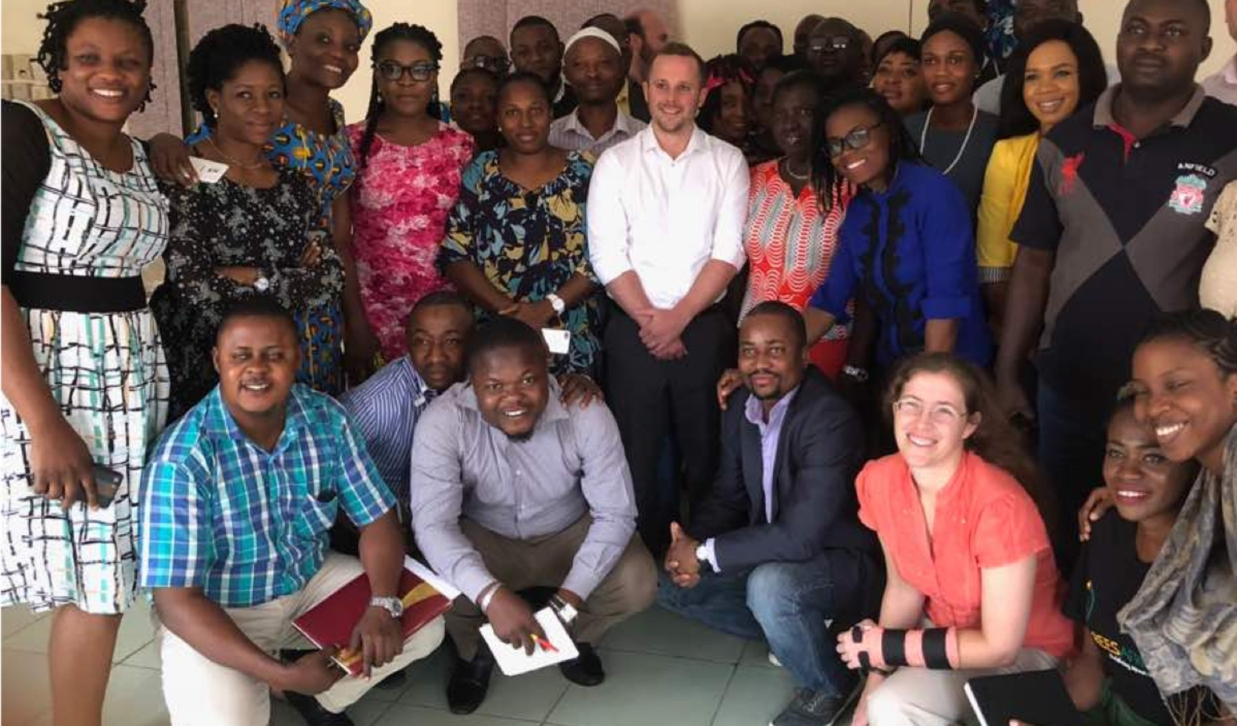 Group shot from capacity building in Lagos on transport and waste strategy