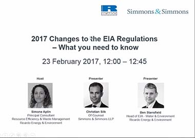 2017 Changes to the EIA Regulations webinar
