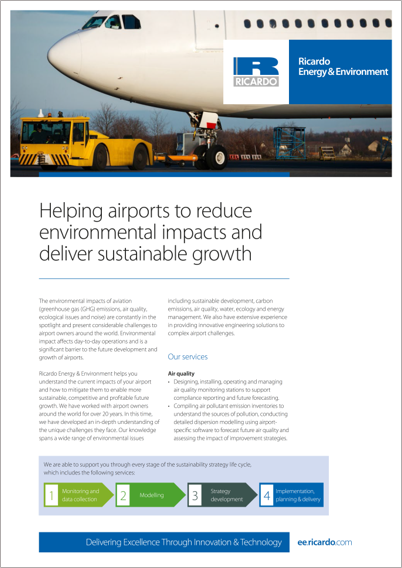 Helping airports to reduce environmental impacts and deliver sustainable growth