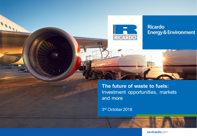 Webinar video: The future of waste to fuels