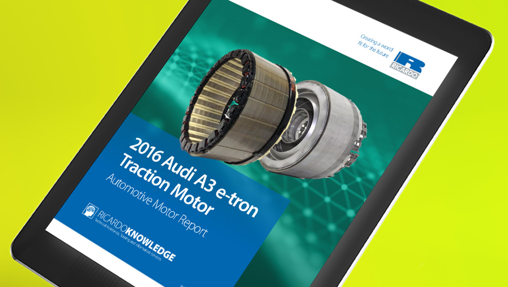 Audi A3 e-tron Traction Motor Analysis Digital Report