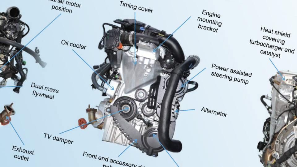 Ford Fox, 1-litre EcoBoost in-line 3-cylinder