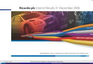 Interim Result Presentation 2006/07 - February 2007