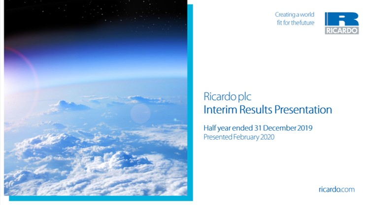 Interim Results Presentation 2019/20 - February 2020