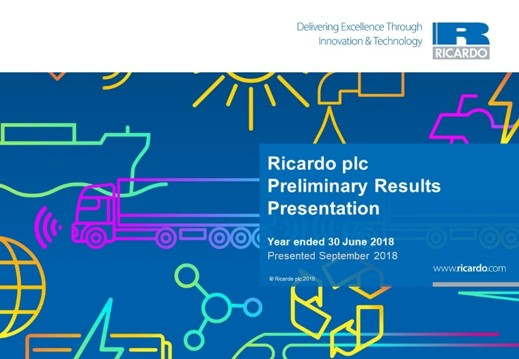 Preliminary Results Presentation 2017/18 - September 2018