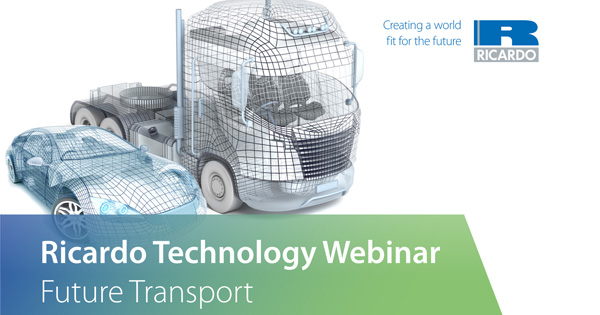 The Drive to 2040 – free Ricardo webinar on powertrain trends beyond the next decade
