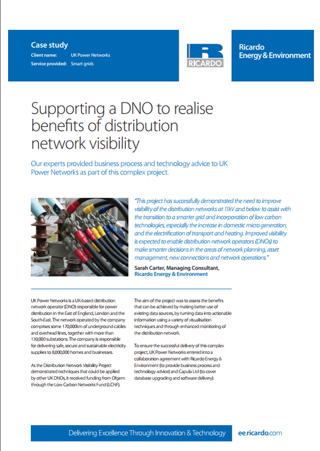 Supporting a DNO to realise benefits of distribution network visibility