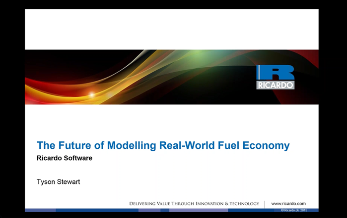 2016 Real-World Fuel Economy Modelling Webinar