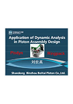 Application of dynamic analysis in piston assembly design