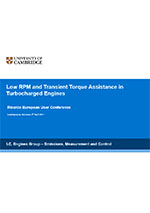 Low RPM and transient torque assistance in turbocharged engines