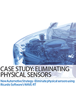 New Automotive Strategy - Eliminate physical sensors using Ricardo Software's WAVE-RT