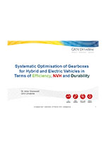 Systematic optimisation of gearboxes for hybrid and electric vehicles