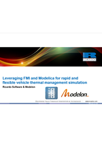 Leveraging FMI and Modelica for rapid and flexible vehicle thermal management simulation