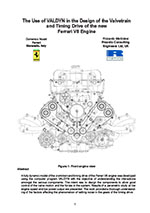 The use of VALDYN in the design of the valvetrain and timing drive of the new Ferrari V8 engine