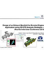 Design of an exhaust manifold for boosted engine application using VECTIS 3D CFD